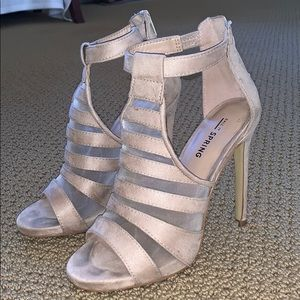 Shoes - Nude mesh heels